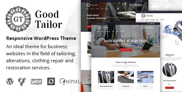 Good Tailor – Fashion & Tailoring Services WordPress Theme