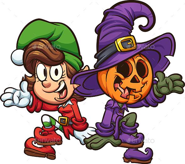 Christmas and Halloween Characters - Miscellaneous Seasons/Holidays