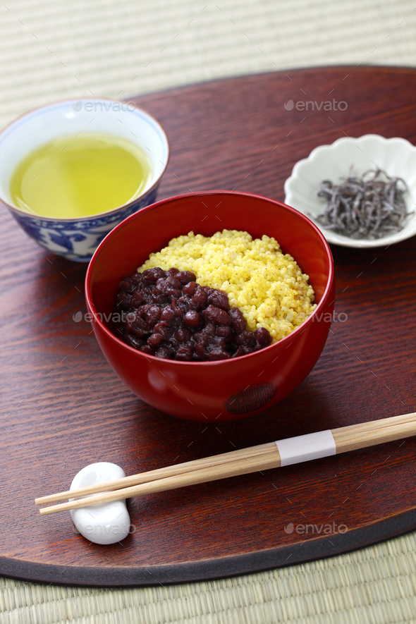 awa zenzai,  japanese traditional dessert - Stock Photo - Images