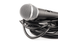 Microphone with curly cable - PhotoDune Item for Sale