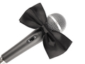 Microphone with bow tie - PhotoDune Item for Sale