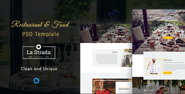 La Strada - Restaurant, Food & Chef PSD Template - Food Retail
