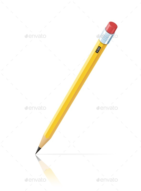 Pencil with Eraser - Man-made Objects Objects