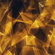 Gold Triangles Glowing Edges Background Loop - VideoHive Item for Sale