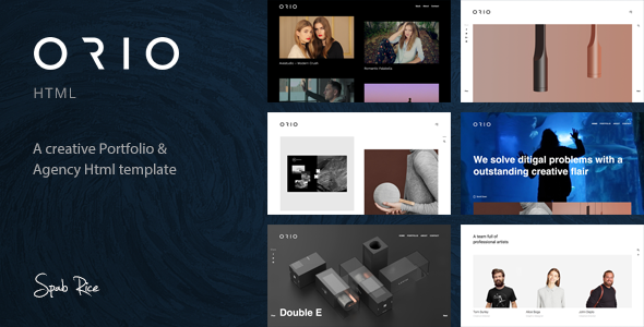 Image of Orio - A Creative Portfolio & Agency HTML Template
