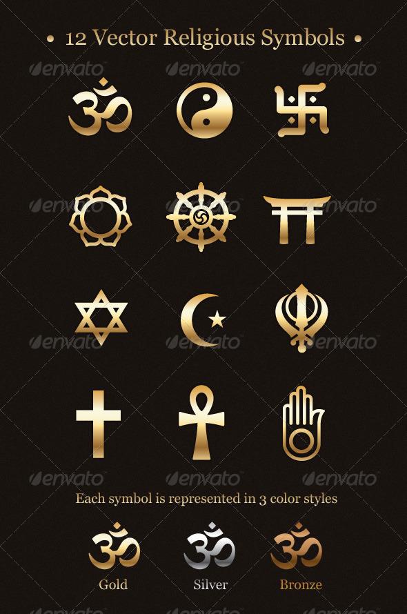 12 vector religious symbols by subtropica graphicriver 12 vector religious symbols religion conceptual mightylinksfo