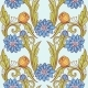 Floral Pattern. Blue and Green on Blue Background. - GraphicRiver Item for Sale