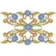 Floral Decorative Elements with Blue Flowers. 2. - GraphicRiver Item for Sale