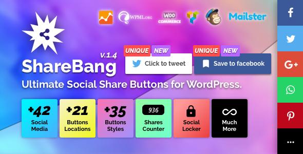 ShareBang, Ultimate Social Share Buttons for WordPress. - CodeCanyon Item for Sale
