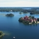 Lithuania. Trakai. Beautiful Castle on the Lakes. Aerial View of Trakai Castle in Summer Season. - VideoHive Item for Sale
