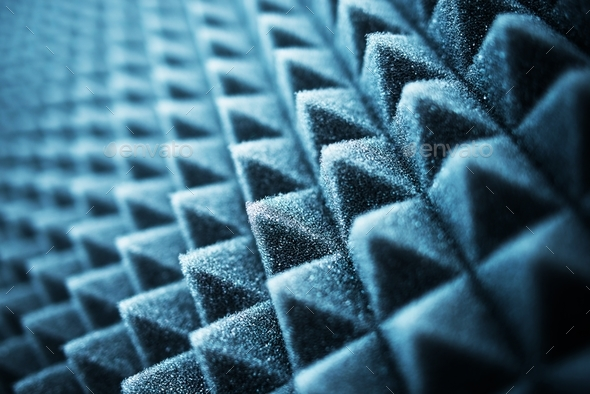 Acoustic Foam Closeup - Stock Photo - Images