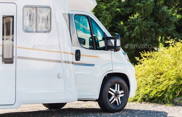 RV Park Camping Spot - Stock Photo - Images