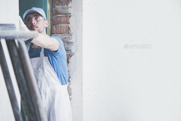 Caucasian Male Contractor - Stock Photo - Images