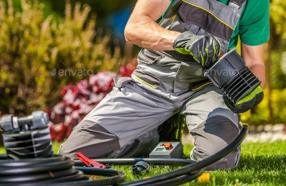 Building Garden Water Supply - Stock Photo - Images