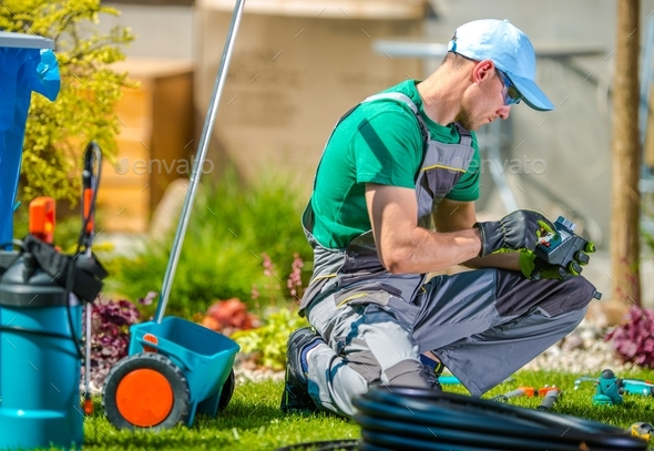 Garden Watering Technologies - Stock Photo - Images