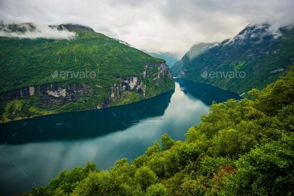 Scenic Norwegian Fjords - Stock Photo - Images