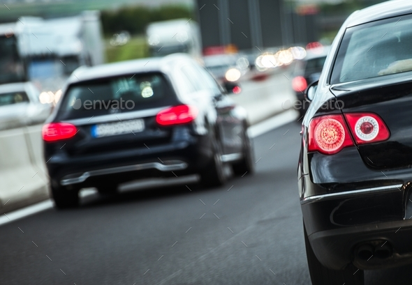 European Highway Traffic - Stock Photo - Images