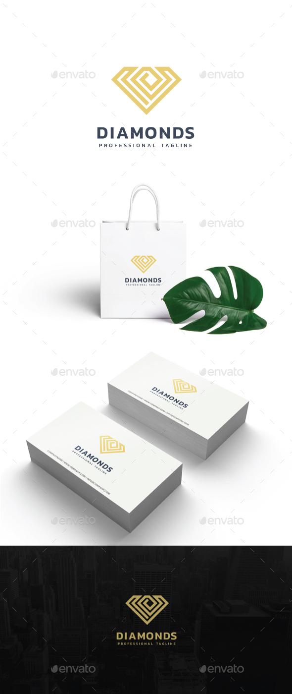 Diamonds Logo - Symbols Logo Templates