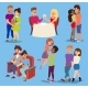 Young Smiling Dating Couple Vector Young People - GraphicRiver Item for Sale