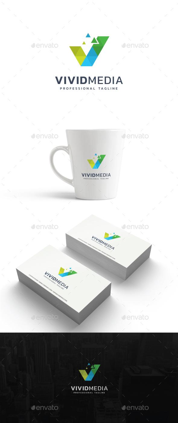 Vivid Media Logo - Abstract Logo Templates