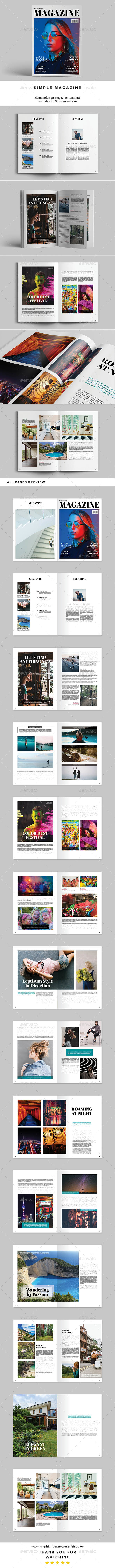 Simple Magazine - Magazines Print Templates