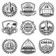 Vintage Monochrome Chess Game Labels Set