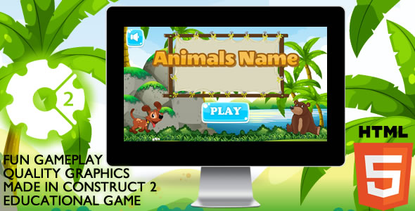 Animals Name Educational - CodeCanyon Item for Sale