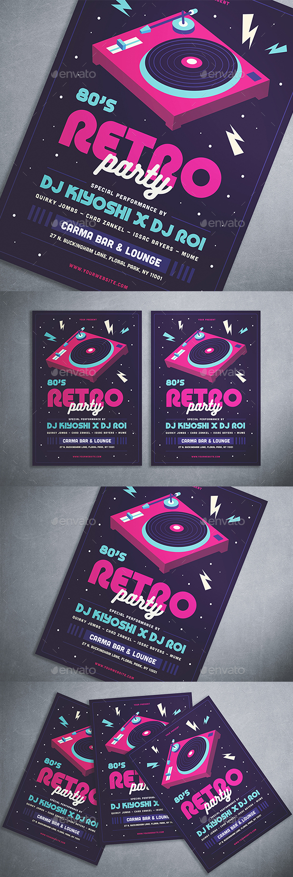 80's Retro Party Flyer - Clubs & Parties Events