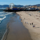 Drone Flying Down Santa Monica Beach Towards Pier - VideoHive Item for Sale