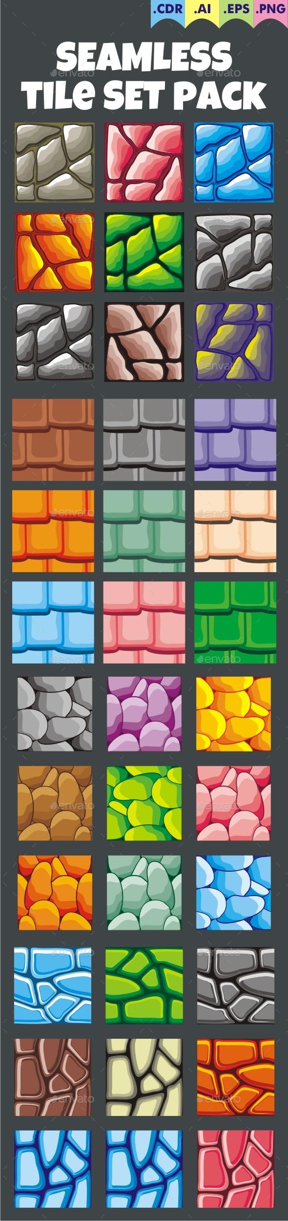 Seamless Tileset Pack - Tilesets Game Assets