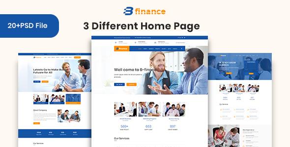 B Finance - Business and Finance PSD Template - PSD Templates