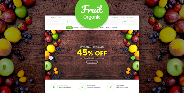 Fruit Shop - Organic Food Responsive Magento 2 Theme - Shopping Magento