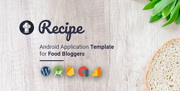 Android Recipe App with WordPress Plug-in - CodeCanyon Item for Sale