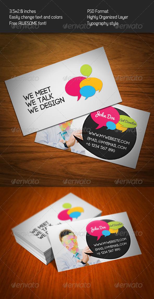 Bubble Talk Business Card - Creative Business Cards