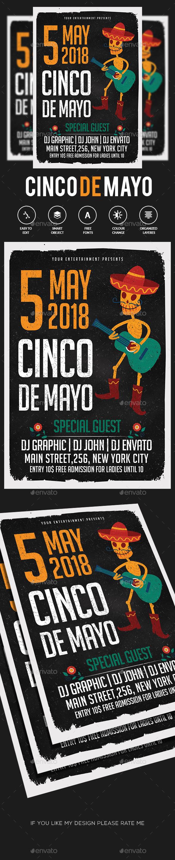Cinco de Mayo Flyer/Poster - Flyers Print Templates