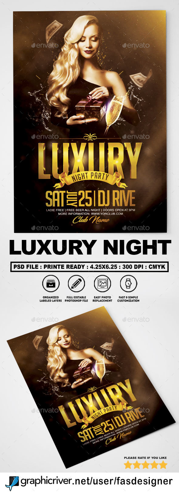 Luxury Night Flyer v2 - Clubs & Parties Events