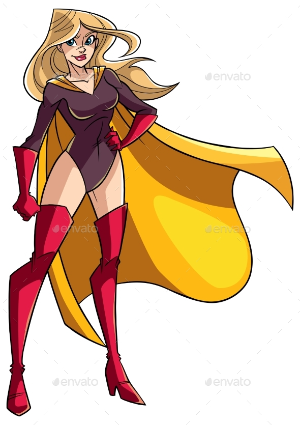 Superheroine Standing Tall - People Characters