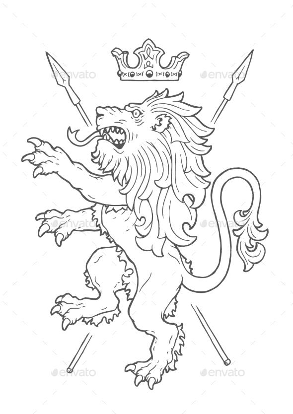 Fighting Lion Insignia - Miscellaneous Vectors