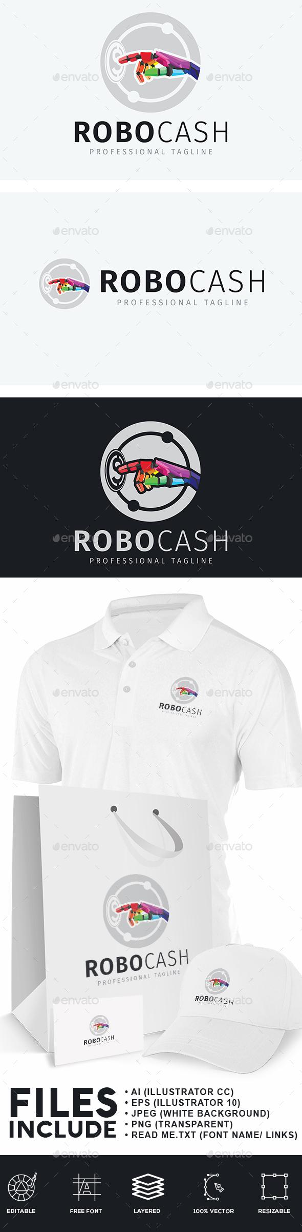 Robot Cash Logo - Humans Logo Templates
