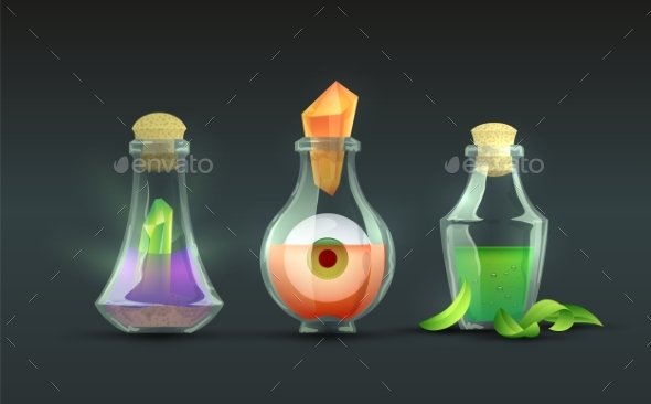 Vector Magic Potions - Man-made Objects Objects