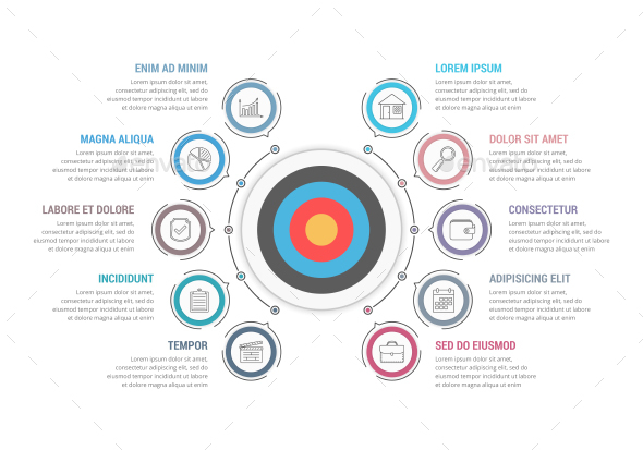 Infographic Template with Target - Infographics