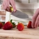 Woman's Hands Slicing Strawberries Sweet Fruit By Kitchen Knife - VideoHive Item for Sale