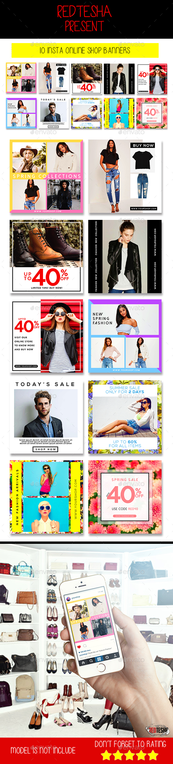 Instagram Fashion Banner #9 - Banners & Ads Web Elements