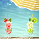 Tropical Background with Fresh Cocktails - GraphicRiver Item for Sale