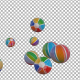 Beach Balls Falling to Transparent Background - VideoHive Item for Sale