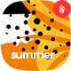 Abstract Summer Seamless Patterns / Backgrounds