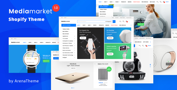 Electronics and Gadgets eCommerce Shopify Theme – MediaMarket
