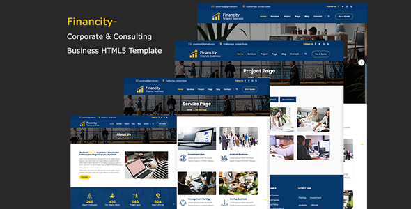 Image of Financity - Corporate & Consulting Business Template