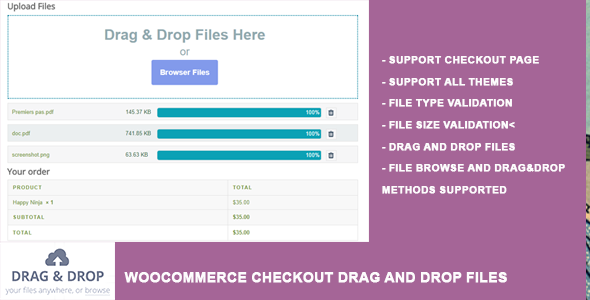 WooCommerce Chekcout Drag and Drop Files Upload - CodeCanyon Item for Sale