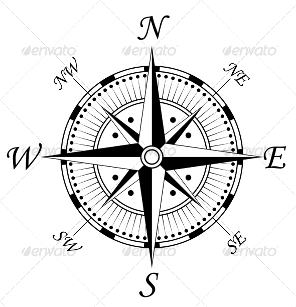 Compass sign 2 - Decorative Vectors